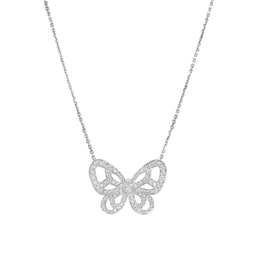 1.39 Carat Butterfly necklace diamond Butterfly pendant