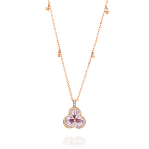 Amethyst diamond heart pendant necklace for women