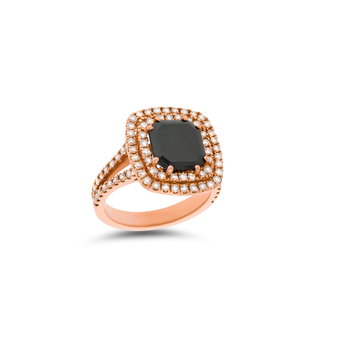 A special diamond ring with big (3.00 carat) Black diamond as a main stone