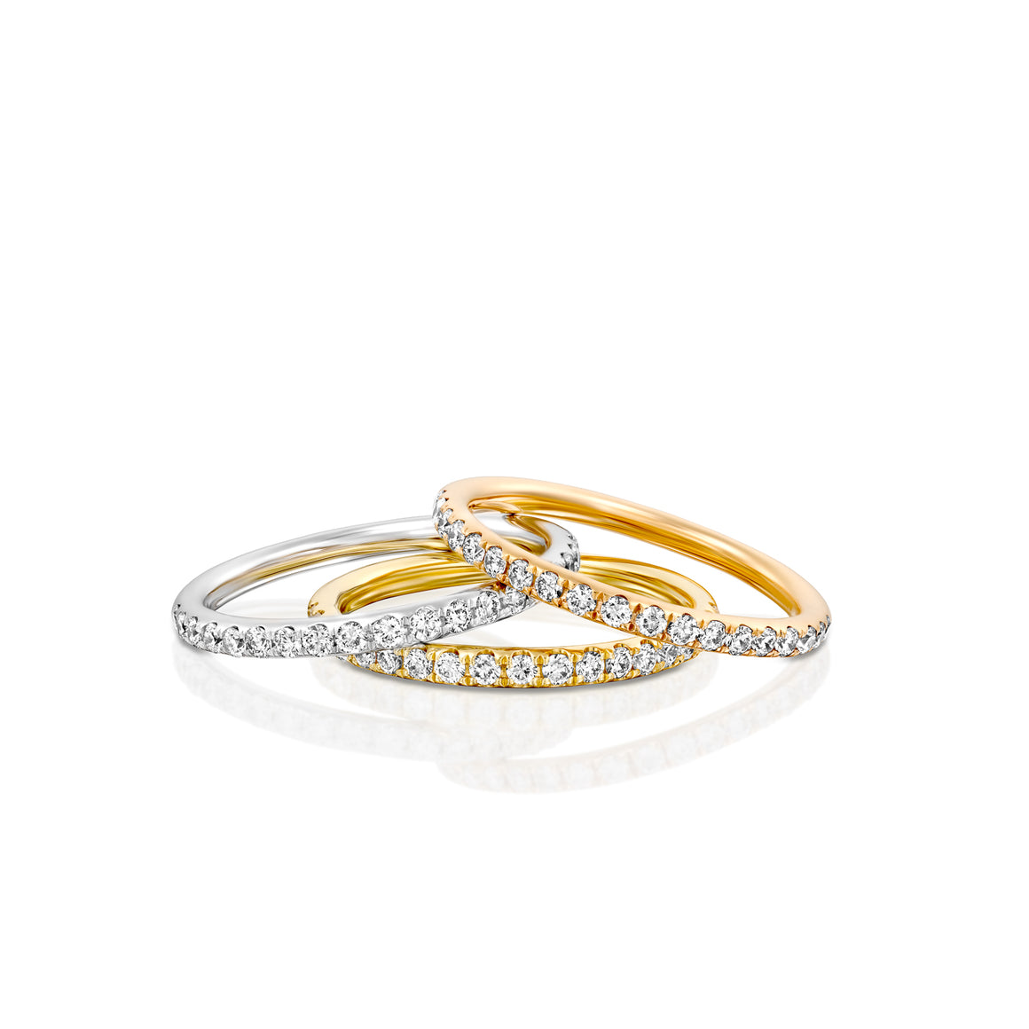 0.28 Carat women half eternity Wedding ring in 18k white red or yellow gold 1.7 MM