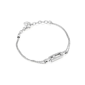 0.31 Carat women Diamond bracelet white gold