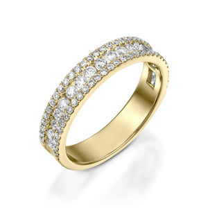 Three rows Ladies wedding band