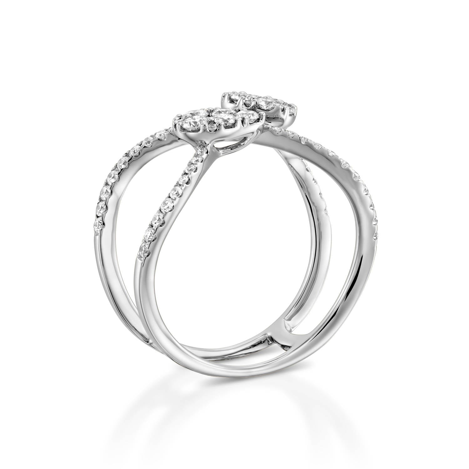 preset diamond e rings twisted halo pid platinum ring pt engagement infinity
