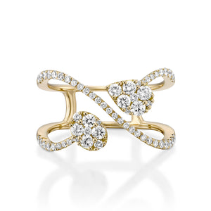 RNR18238-Unique women engagement ring Double diamond ring