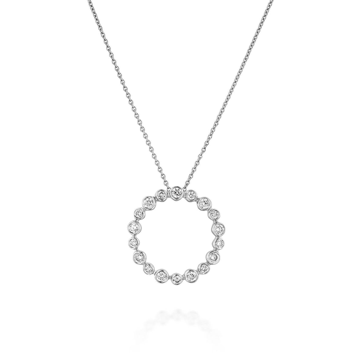 18k White Gold Eternity Diamond Pendant