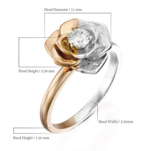 ROF102-0.18 Ct rose diamond floral engagement ring