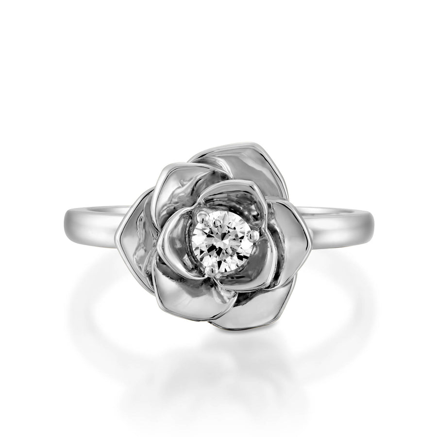 flower ring -  diamond engagement ring