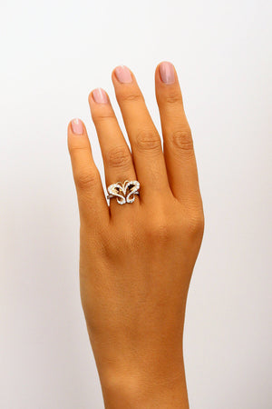 Nature inspired butterfly diamond ring for women