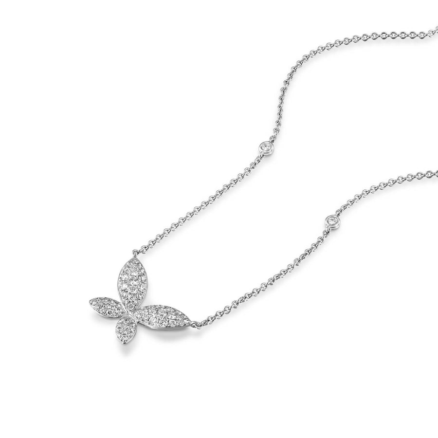 Natural Diamond butterfly pendant