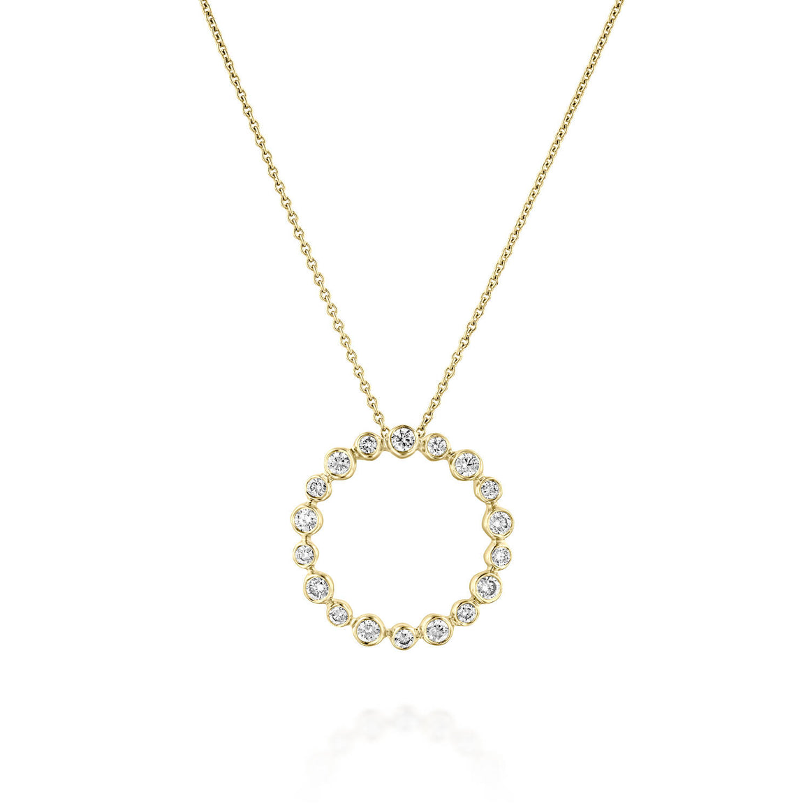 PNT11421 Circle Of Life Round Diamond Pendant