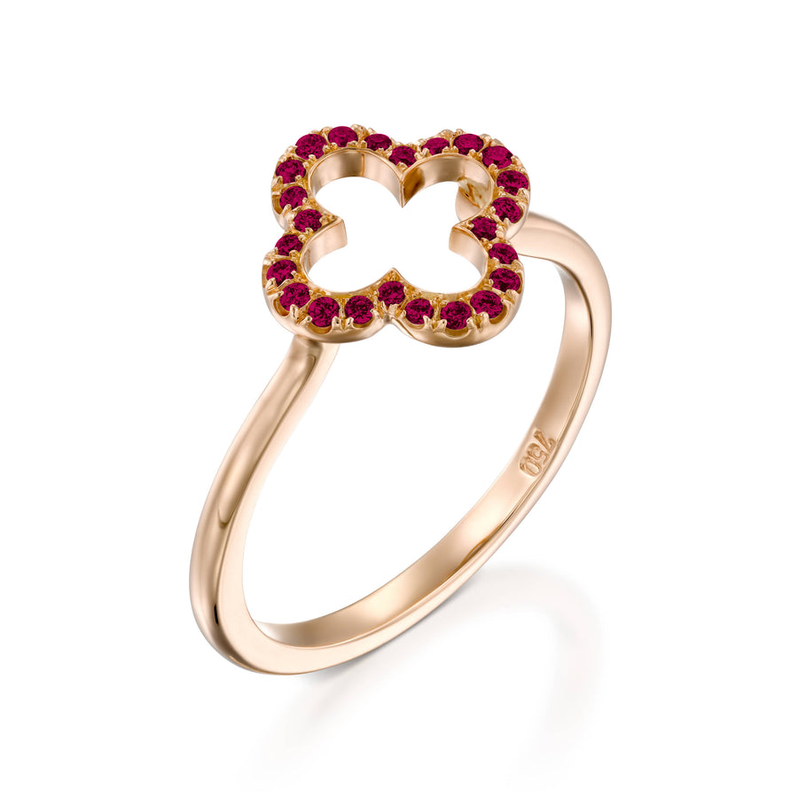 18k Rose Gold Lucky Love Ring