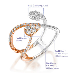Rose gold Infinity diamond ring
