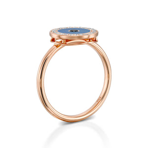 Rose gold Diamond Evil eye ring