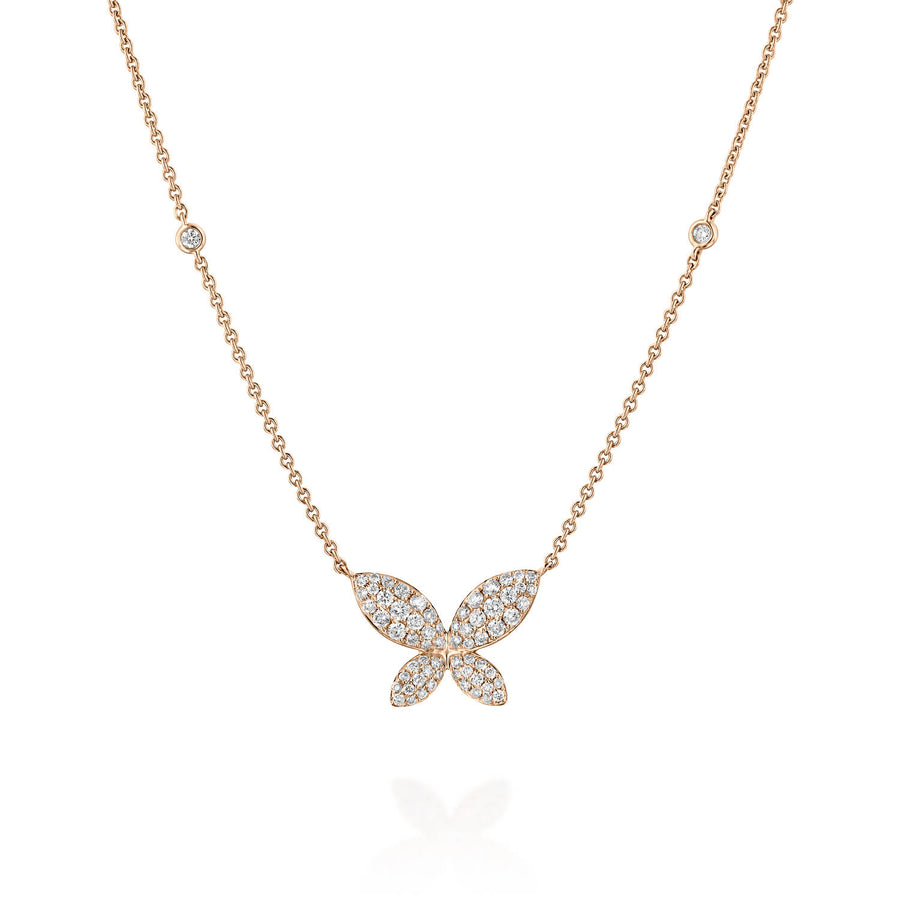 0.5 Carat Delicate Butterfly Necklace