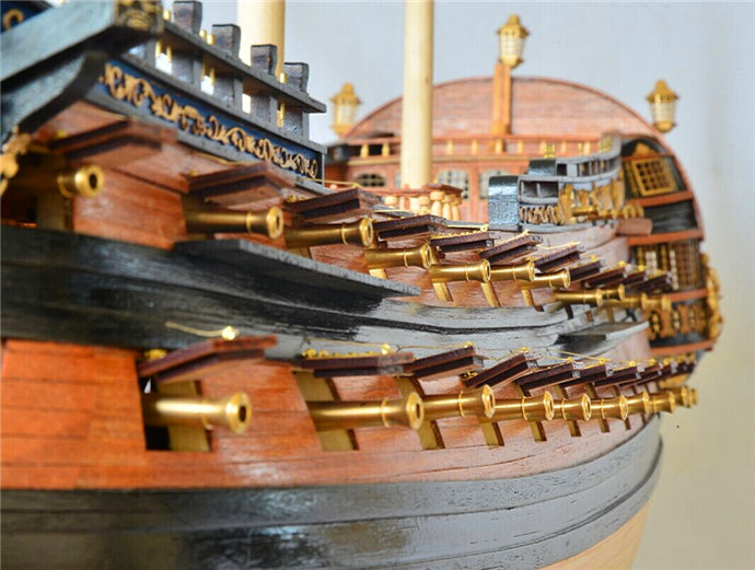 Scale 1/50 classic Russian wooden ship model Kit
