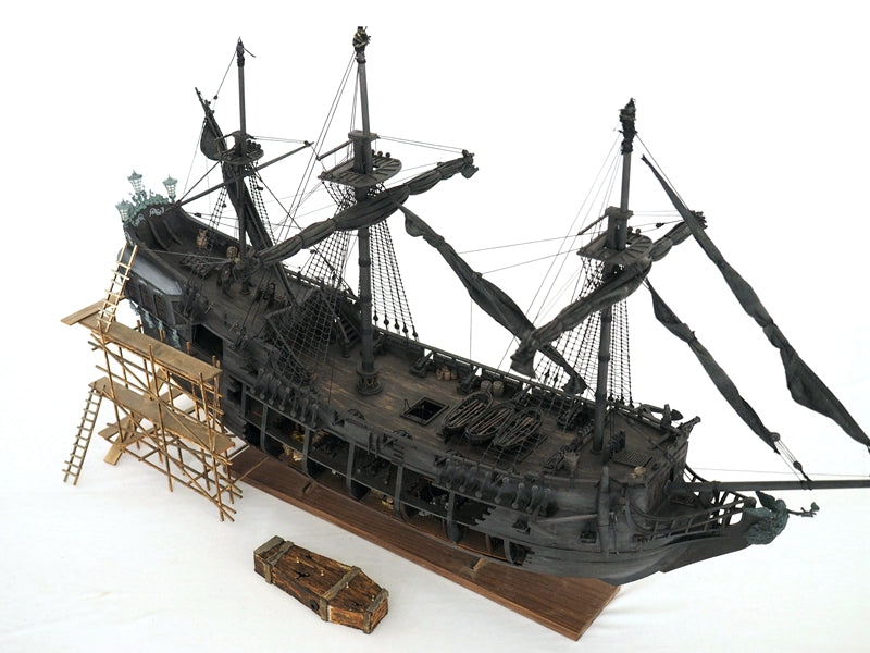 ZHL all-scenario version of the black pearl ship model kits (English detailed manuals)