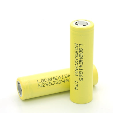 LG HE4 18650 2500mAh 20A 3.7v RECHARGEABLE FLAT TOP BATTERIES - The King of Vape
