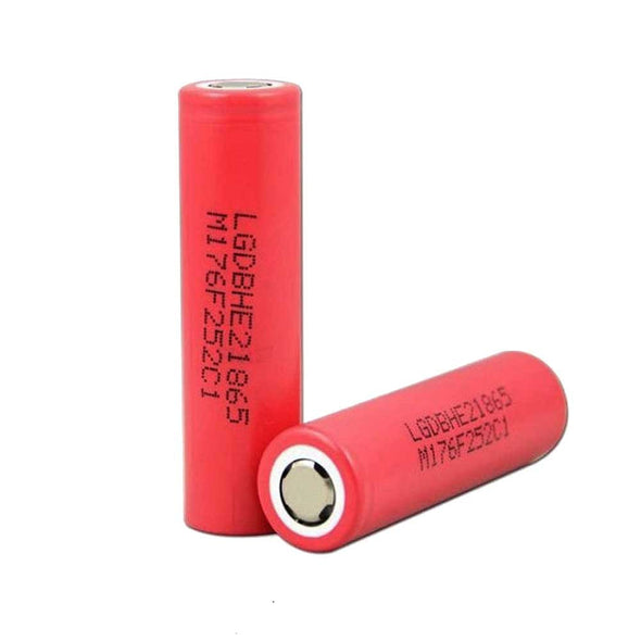 LG HE2 18650 2500mAh 20A 3.6v RECHARGEABLE FLAT TOP BATTERIES - The King of Vape