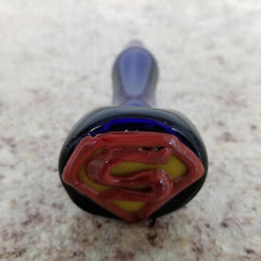 Hand Blown Glass Pipe - Man of Superpowers