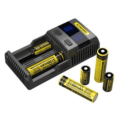 NITECORE SC2 SUPERB 3A BATTERY FAST CHARGER - TWO BAY - The King of Vape