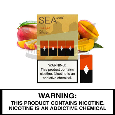 Sea100 - Mango - Juul Compatible Pods (4 PACK) - The King of Vape