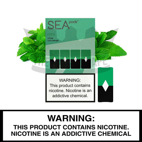 Sea 100 - Mint - Juul Compatible Pods (4 PACK) - The King of Vape