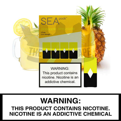 Sea 100 - Pineapple Lemonade - Juul Compatible Pods (4 PACK) - The King of Vape
