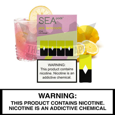 Sea 100 - Pink Lemonade - Juul Compatible Pods (4 PACK) - The King of Vape