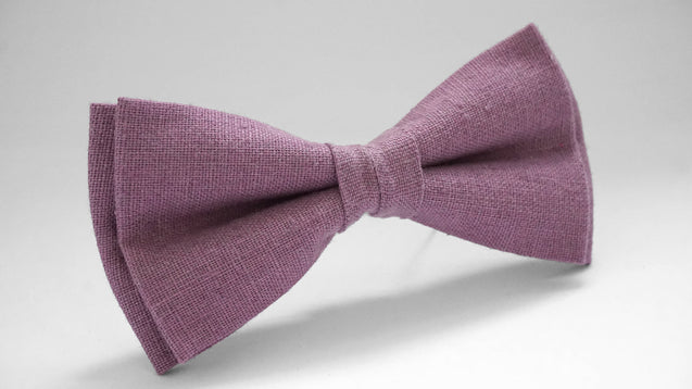 Purple Linen Bow Tie For Wedding, Purple Bow tie for groomsmen, Boys Toddlers Babys Mens Green Bow Tie, Purple bow tie, linen bow tie - MenLau