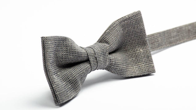 Dark Gray bow tie, Mens Wedding Dark Bow tie, Dark Bowtie, Adult Dark Bow tie, Dark gray Bow tie, Gray Bow tie, Linen bow tie, wedding bow - MenLau