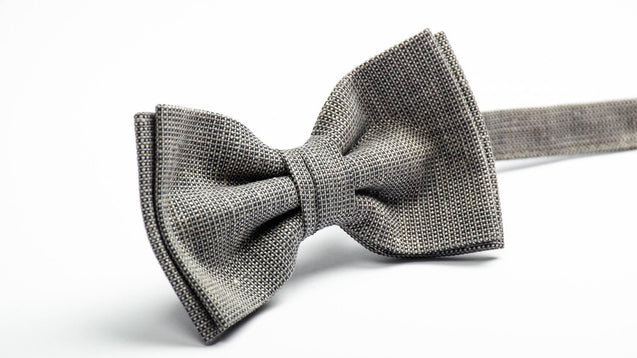 Dark Gray Chambray bow tie, Pocket Square, NeckTie, Boys Bow Ties, Mens Bow Tie, Tie For Men, Suited Pocket Square Boys, bow ties for men - MenLau