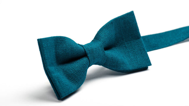 Teal Bow Tie Matching Father Son Wedding Necktie For Man Birthday Outfit Toddler Bowties, bow ties for men - MenLau