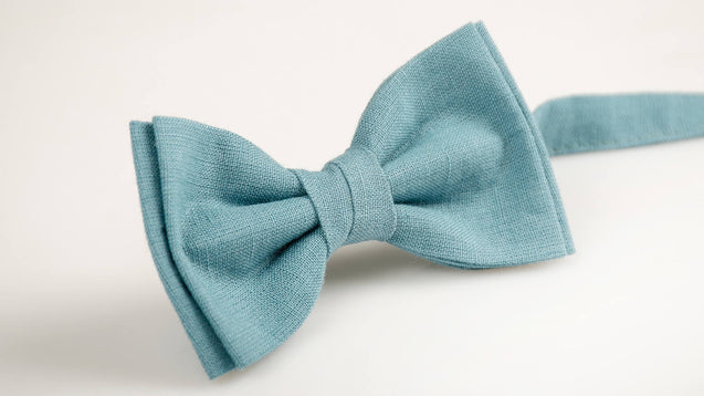 Mens light blue bow tie, mens bow tie, blue bow tie, wedding bow tie, blue bow tie,  linen bow tie for men,bow tie Blue, Blue boys bow tie - MenLau