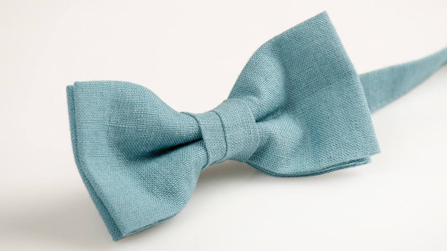 Light blue bow tie, boys bow tie, groomsmen bow tie, baby boy bow tie, toddler bow tie, bow ties for men - MenLau