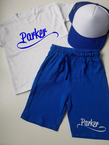 Personalised tshirt and short set