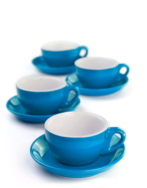 Blue Cappuccino Cups