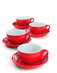 Red Cappuccino Cups