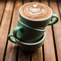 Baristapro Large Green Cappuccino Cups