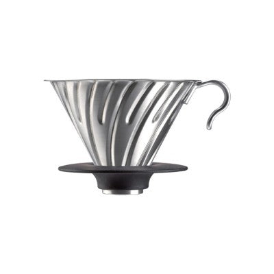 2 Cup V60 Silver Metal Dripper