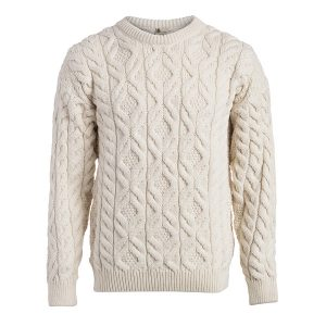 BOYNE VALLEY KNITWEAR MEN'S SUPERSOFT CABLE SWEATER