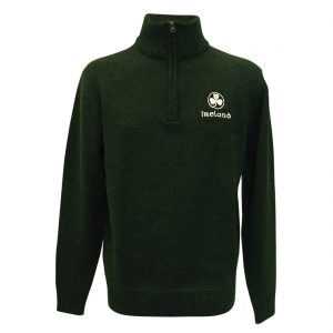 GREEN AND WHITE IRELAND ZIP JACKET