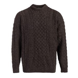 BOYNE VALLEY MEN'S FISHERMAN ARAN SWEATER