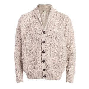BOYNE VALLEY MEN'S PATCHWORK SHAWL COLLAR CARDIGAN
