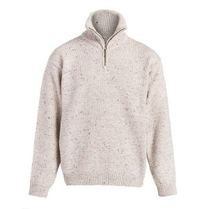 BOYNE VALLEY MEN'S ZIP NECK WOOL SWEATER