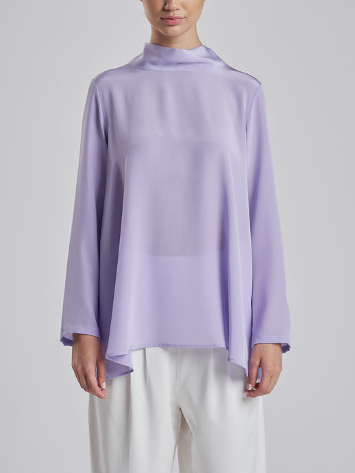 Luxurious Lavender Silk Top