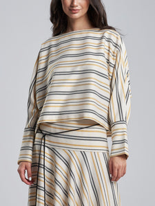 Oversized Tuscan Yellow Striped top