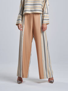 Striped Trousers with Maple Centre