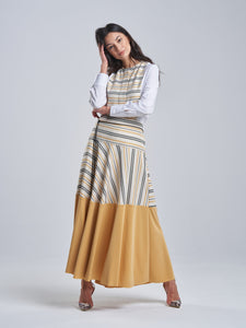 Tuscan Yellow Striped Skirt
