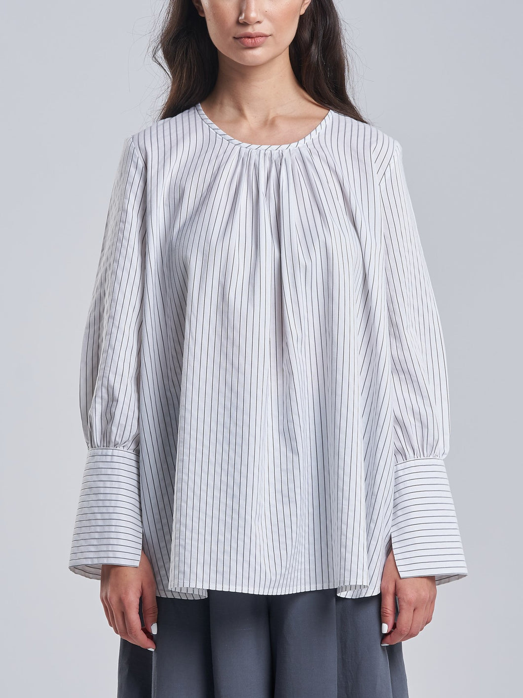 White Pinstriped Shirt