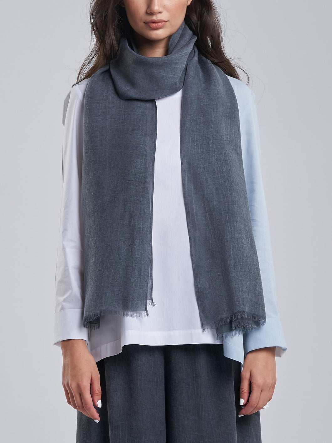 Washed Grey Scarf